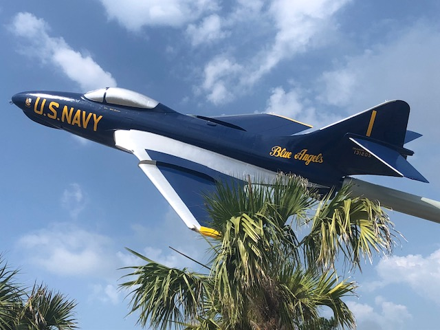 Blue Angel at I-10 Welcome Center Blast Off